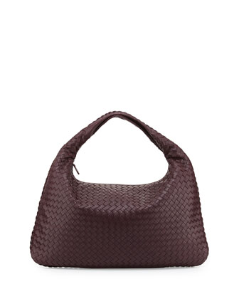 Sac Large Hobo Bag, Aubergine Bordeaux