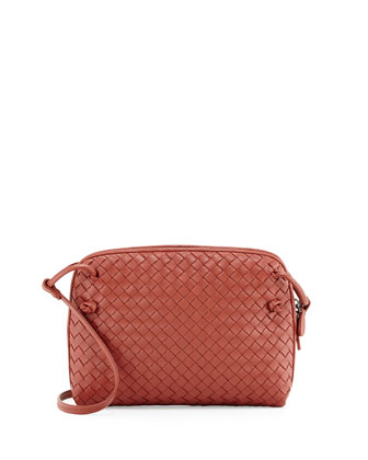 Veneta Small Crossbody Bag, Burnt Red