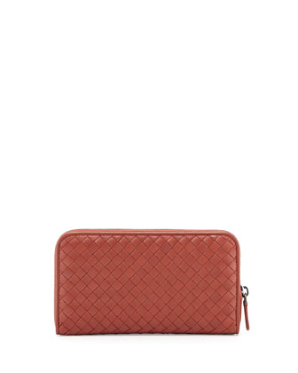 Zip-Around Organizer Wallet, Burnt Red Rust