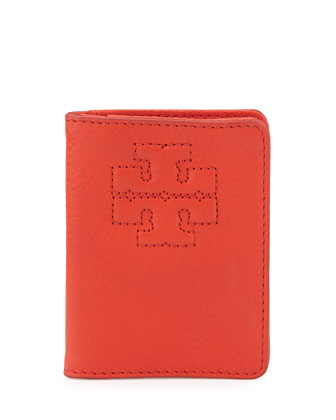 Thea Leather Transit Pass Holder, Jasper Red
