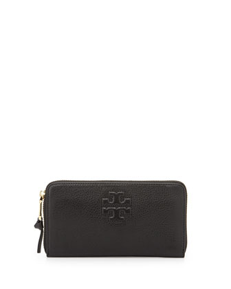 Thea Continental Zip Wallet, Black