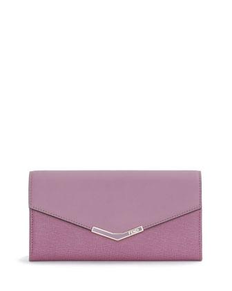 V-Flap Continental Organizer Wallet, Lilac
