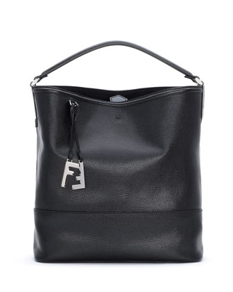 2Jour Leather Bucket Bag, Black