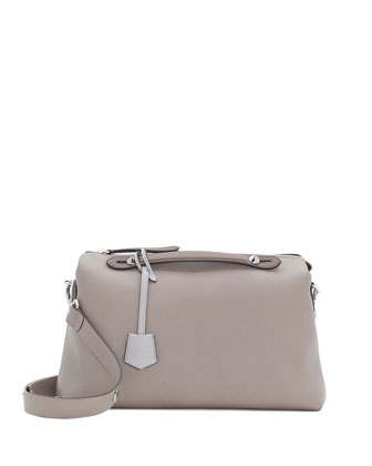 By The Way Leather Satchel Bag, Turtle Dove Gray
