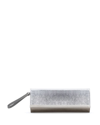 Rush Metallic Clutch Bag, Argento Silver