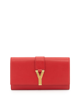 Classic Y-Line Clutch Bag, Red
