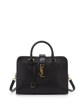 Monogramme Small Zip-Around Satchel Bag, Nero