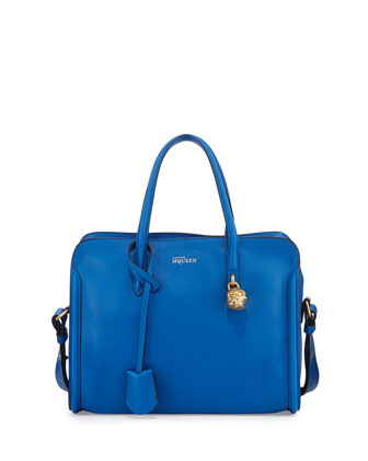 Padlock Small Zip-Around Tote Bag, Bright Blue