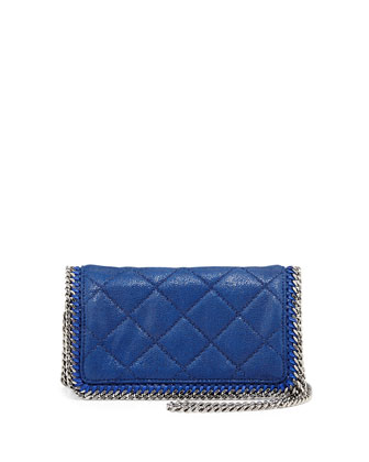Falabella Quilted Crossbody Bag, Bluebird