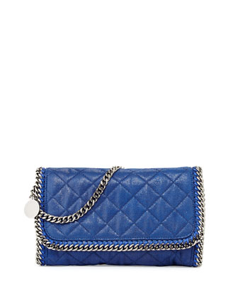 Falabella Quilted Shoulder Bag, Bluebird