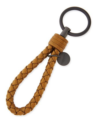 Braided Loop Key Ring, New Bronze Gold