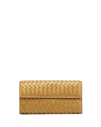 Continental Organizer Flap Wallet, New Bronze Gold