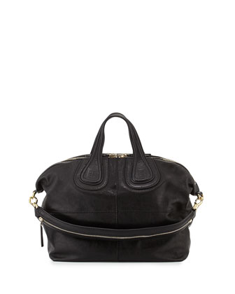 Nightingale Zanzi Medium Satchel Bag, Black