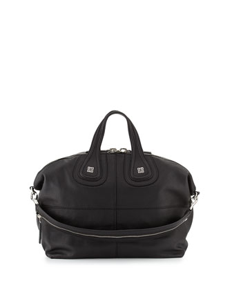 Nightingale Sugar Medium Satchel Bag, Black