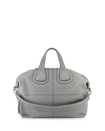 Nightingale Sugar Medium Satchel Bag, Pearl Gray