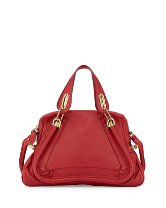 Paraty Medium Satchel Bag, Bacerola (Red)