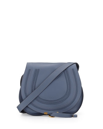 Marcie Small Satchel Bag, Street Blue