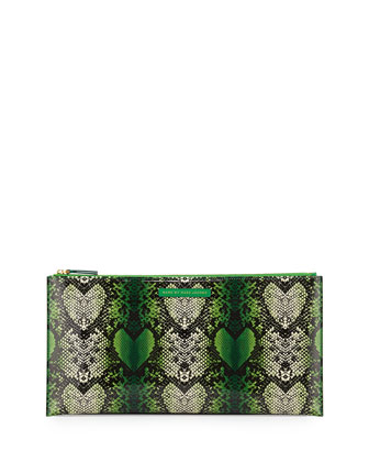 Snake Heart Annabelle Clutch Bag, Fresh Grass