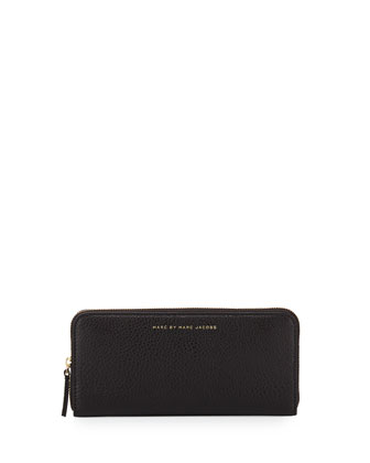 Sophisticato Slim Leather Wallet, Black