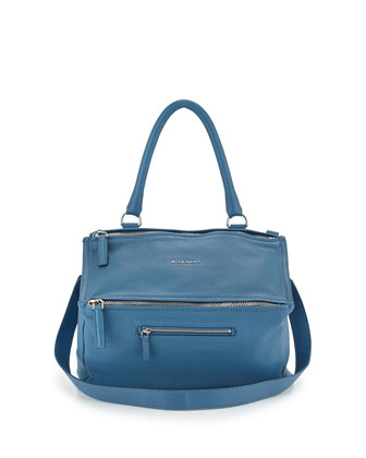 Pandora Medium Shoulder Bag, Medium Blue