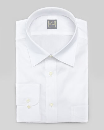 Solid Basic-Fit Dress Shirt, White
