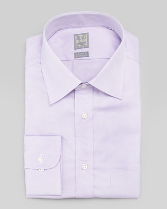Solid Basic-Fit Dress Shirt, Lavender