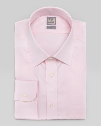 Solid Basic-Fit Dress Shirt, Pink