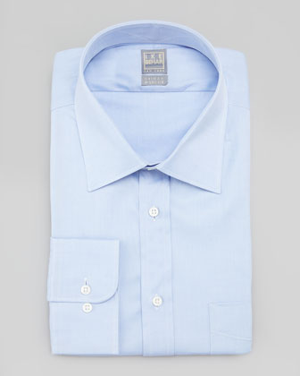 Solid Basic-Fit Dress Shirt, Light Blue