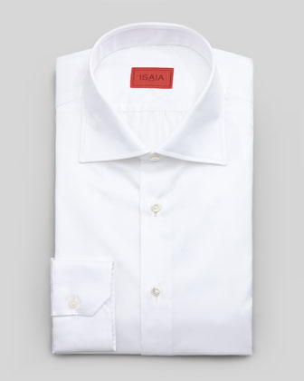 Textured Handmade Dress Shirt, White