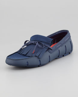 Swims Rubber Kiltie Loafer, Shadow Blue