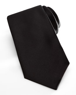 Neiman Marcus Satin Formal Tie, Black