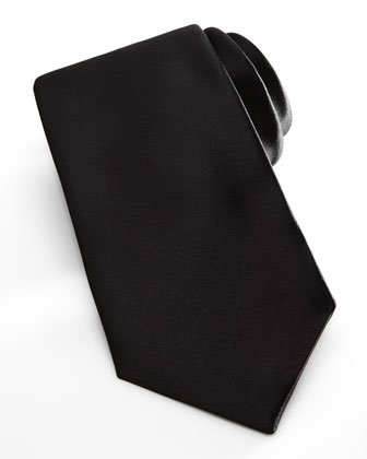 Satin Formal Tie, Black