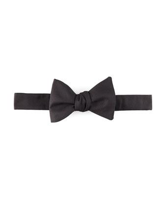 Self-Tie Faille Bow Tie, Black
