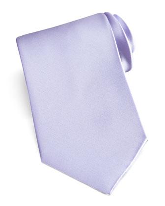 Solid Satin Tie, Lavender