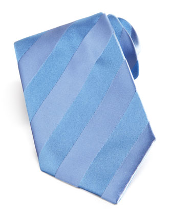 Self-Striped Tie, Blue