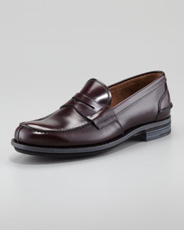 Prada Spazzolato Penny Loafer, Brown