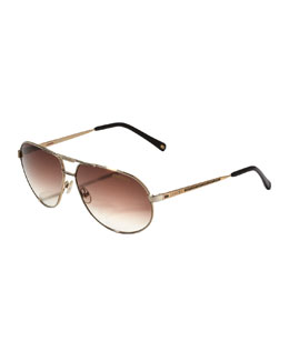 Carrera Master 2 Aviator Sunglasses, Golden