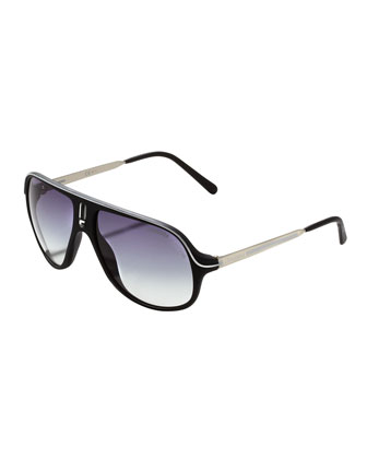 Safari R Sunglasses, Black/White