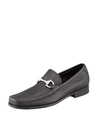 Magnifico Leather Bit Loafer, Black
