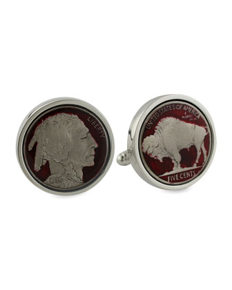Buffalo Nickel Cuff Link