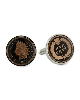 Indian Penny Cuff Links