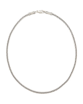 Sterling Silver Chain Necklace, 24