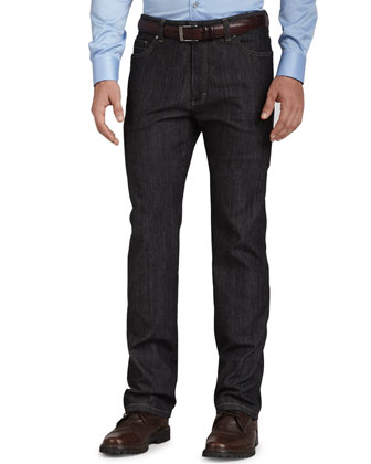 Roq Five-Pocket Jeans, Black
