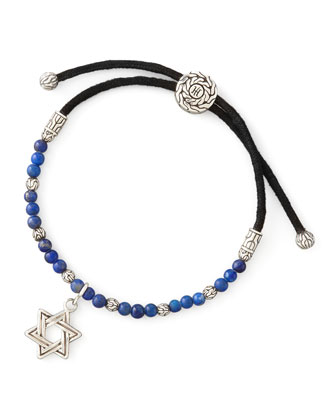 Batu Bedeg Silver Star of David Bracelet
