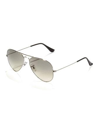 Classic Aviator Sunglasses, Silvertone
