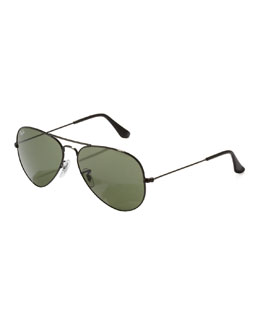 Ray Ban Classic Aviator Sunglasses, Black