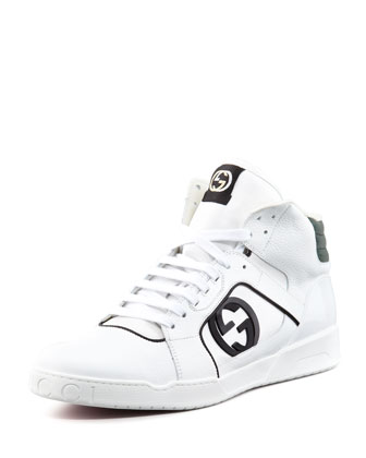 Hi-Top Rebound Sneakers, White