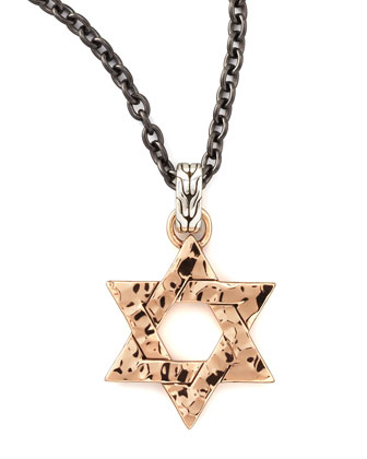 Palu Star of David Men's Pendant Necklace