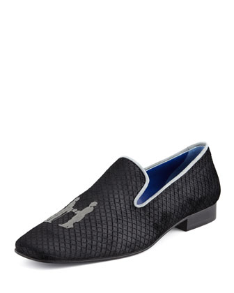 Rakeevening Velvet Smoking Slipper