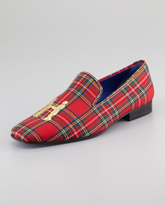 Plaid Logo Smoking Slipper